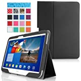 MoKo Samsung Galaxy Tab 3 10.1 and Galaxy Tab 4 10.1 Case - Slim Folding Case for Both Samsung Galaxy Tab 3 10.1 Inch And Galaxy Tab 4 10.1 Inch Android Tablet, BLACK (with Smart Cover Auto Wake / Sleep)
