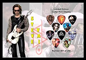 Steve Vai Premium Celluloid Guitar Picks Display Large A4 Sized
