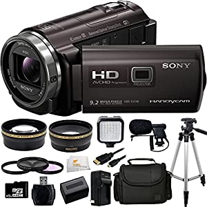 Sony HDRPJ540/B HDRPJ540 HDR-PJ540B PJ540 Video Camera with 3-Inch LCD (Black) + 32GB Bundle 15PC Accessory Kit. Includes Wide Angle & Telephoto Lenses + 3 Piece Filter Kit (UV-CPL-FLD) + 32GB MicroSD Card + Reader + Extended Life Replacement Battery (NP-