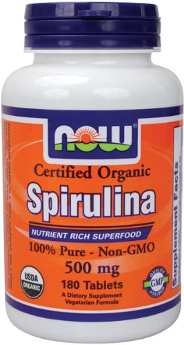 Now Foods, Zertifizierte Bio-Spirulina, 500 mg, 180 Tabletten [Körperpflege]