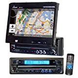 51hsD%2BCxWSL. SL160  Lanzar SDBT79NV 7 Inch Motorized T Feet Touch Screen DVD/CD/MP3 Player/AM/FM/SD USB with Built In GPS/USA/Canada and Mexico Maps