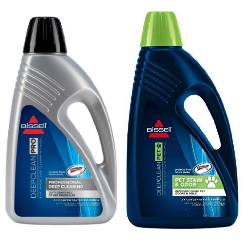 Bissell 78H6B Deep Clean Pro 2X Deep Cleaning Concentrated Formula, 48 ounces and BISSELL 2X Pet Stain & Odor Full Size Machine Formula, 60 ounces, 99K5A Bundle (Bissell 2x Deep Cleaning Formula compare prices)