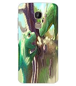ColourCraft Cute Lizards Design Back Case Cover for LeEco Le 2 Pro