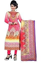 BalajiWomen's Crepe Unstitched dress material(2001-multicolor-free size)