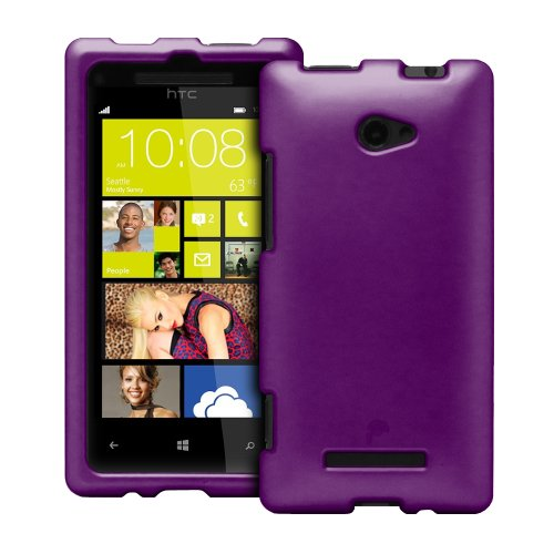 Fosmon MATT Series Hard Rubberized Slim Fitting Protective Case for HTC Windows Phone 8X (Purple)