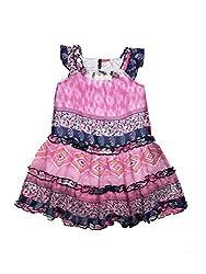 SuperYoung Girls' Neon Fuschia Dress