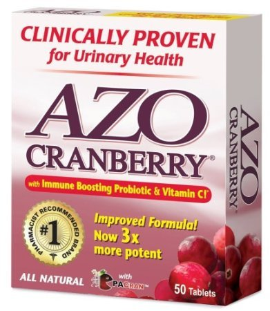Azo All Natural Concentrated Cranberry Tablets, 50 Count (Pack Of 3) front-118200