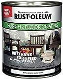 Rust-Oleum 244857 Porch Floor Paint, Pure White Semi-Gloss, 1-Quart