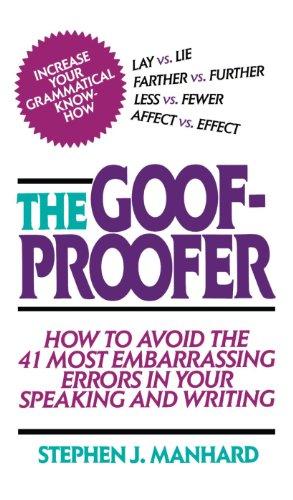 Goof Proofer - Stephen Manhard