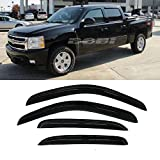 Mifeier Sun/Rain Guard Vent Shade Window Visors Wind Deflector For 2007-2013 Chevy GMC 1500/2500 Crew Cab Pickup/SUV Wind Deflector 4pc