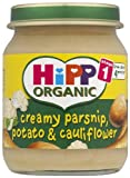 #3: HiPP Organic Stage 1 From about 4 Months Creamy Parsnip, Potato and Cauliflower 6 x 125 g (Pack of 2, Total 12 Pots)