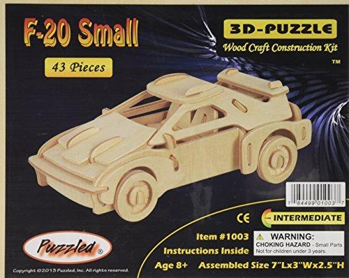 "3D Jigsaw Puzzle 43 Pieces 7""X3""X2.5""-F-20 Car - 1"