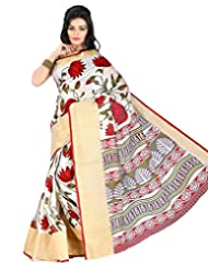 Roopkala Silks & Sarees Cotton Silk Saree With Blouse Piece (Ga-1114 _Cream)