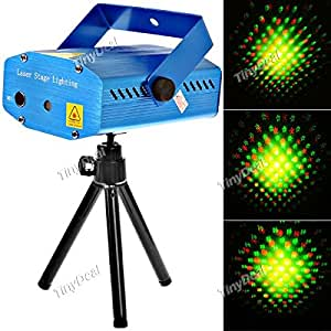 Sound Activated Disco Music Stage Mini Laser Projector Light with Red Green Light for Party Disco Club FLP-203972