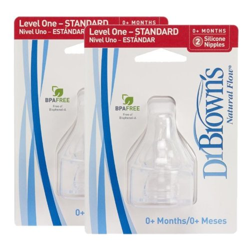 Standard Nipples Level One - 4 Pack By Dr. Brown's