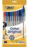 BIC Kugelschreiber Cristal Medium, 0.4 mm, sortiert, Beutel à 10 Stück