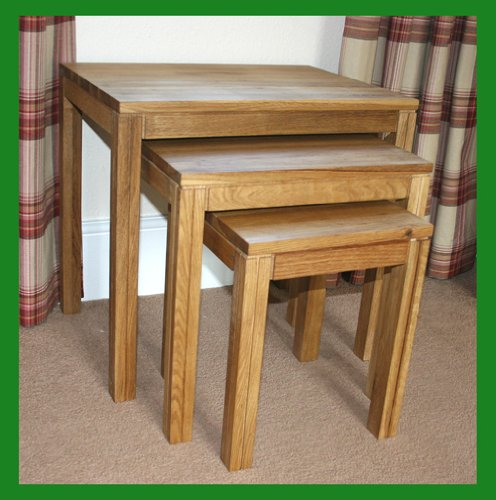 Rome Solid Oak Nest of Tables