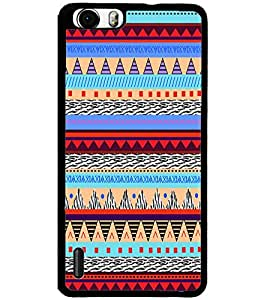 ColourCraft Tribal pattern Design Back Case Cover for HUAWEI HONOR 6