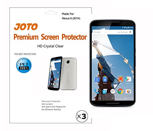 Nexus 6 Screen Protector - JOTO Screen Protector Film, Anti Fingerprint, Anti Glare (Matte Finish), for Google Nexus 6, Motorola Nexus 6 (2014 release), with Lifetime Replacement Warranty (3 Pack) - 1