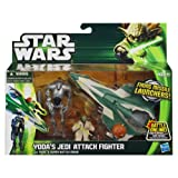 Yoda's Jedi Attack Fighter with Yoda and Super Battle Droid Star Wars Episode II Class I Fleet Vehicle
