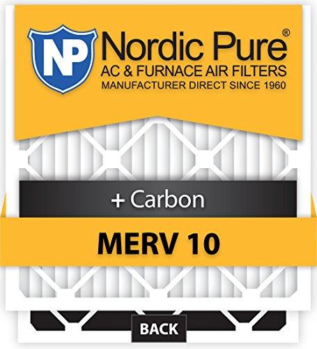 Nordic Pure 18x18x1M10+C-6 MERV 10 Plus Carbon AC Furnace Air Filters, Qty 6