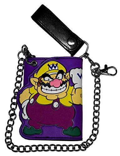 Nintendo Mario Die Cut Trifold Chain Wallet
