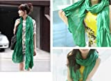 Shop4Clothing365(TM) New Fashion Solid Color Shawl Scarf Wrap for Women (Green)