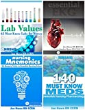 Nursing School Study Pack (Drug Reference, Labs, Mnemonics, EKG) 4 books for nursing students