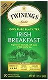 Twinings Irish Breakfast Tea, Tea Bags, 20-Count Boxes (Pack of 6)