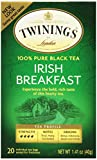 Twinings Irish Breakfast Tea, Tea Bags, 20-Count Boxes (Pack of 6)