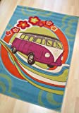 Children's Retro Funky Rug - Design 14 - 'Road Trip