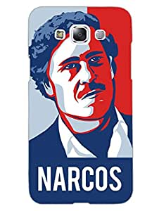 Pablo Escobar - The King Of Narcos - Hard Back Case Cover for Samsung E7 - Superior Matte Finish - HD Printed Cases and Covers