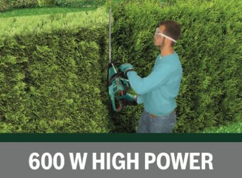 bosch ahs 55 26 electric hedge cutter 550 mm blade length 26 mm tooth opening garden rattan. Black Bedroom Furniture Sets. Home Design Ideas