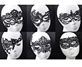 6 Pack Lace Sexy Mask - Venetian Masquerade Lace Eyemask Eye Mask for Halloween Masquerade Party,Costume Mask Masquerade For Women