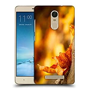 Snoogg Dried Leaf Printed Protective Phone Back Case Cover For Xiaomi Redmi Note 3