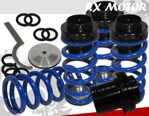 1993-1997 Volkswagen Golf Mk3 Scale Adjustable Coilover Springs Lowering Blue (Mk3 Golf Coil compare prices)
