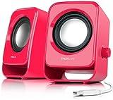 Speedlink Snappy Stereo Speakers - Berry