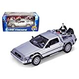 Welly 1/24 Scale Diecast Metal Delorean Time Machine Back to the Future Part II (Color: Gray)