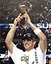 Aaron Rodgers with Lombardi Trophy at Super Bowl XLV  Green