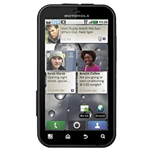 Motorola Defy MB525 Unlocked Cellphone with Android OS 2.2, 5MP Camera, Wi-Fi and GPS No Warranty - Black