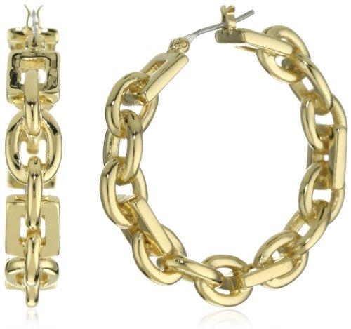 T Tahari Gold Link Hoop