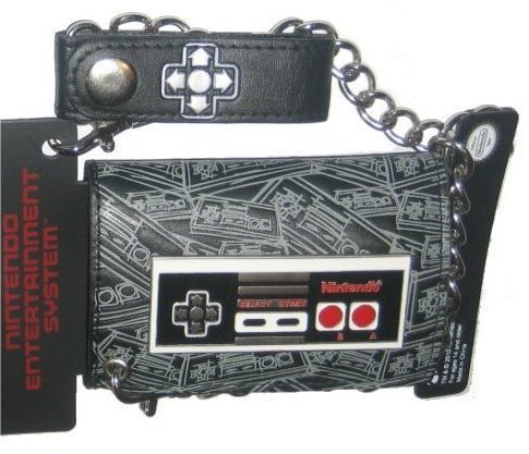 Nintendo NES Controller Leather Chain Wallet