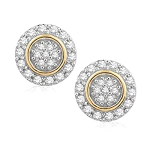 Pavé Privé 18ct Yellow Gold with White Diamonds Round Studs Earrings