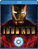 Cover art for  Iron Man (Two-Disc Ultimate Edition + BD Live) [Blu-ray]
