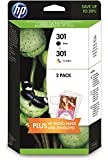 HP 301 Ink Cartridges - Pack of 2