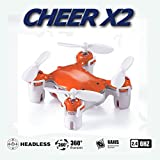 Cheer X2 Pocket Drone 2.4GHz 6 Axis Gyro Mini RC Quadcopter 360° Headless Orange