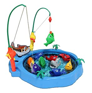 12 catch the shark fishing game for kids with for Fishing poles for kids