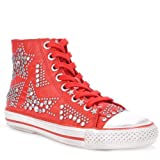 VIBRATION coral studded trainers