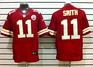 Alex Smith Kansas City Chiefs Red Jersey 44 Large by Field