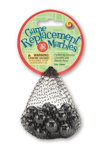 Mega Marbles Replacement Game (30 Piece), Black, 14mm - 1